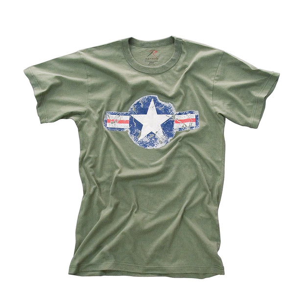 Rothco Vintage Army Air Corps T-Shirt - Small (OD)