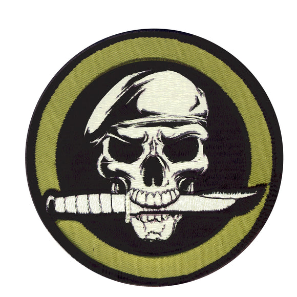 Rothco Military Skull & Knife Morale Patch - Stryker Airsoft