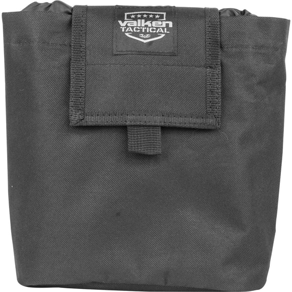 Valken Tactical Folding Dump Pouch (Black) - Stryker Airsoft