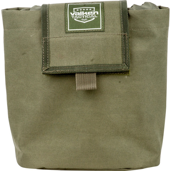 Valken Tactical Folding Dump Pouch (Green) - Stryker Airsoft