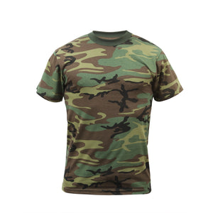 Rothco Kids Camo T-Shirt - Large (Woodland) - Stryker Airsoft