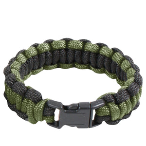 "Rothco Two-Tone Paracord Bracelet - 10"" (OD/Black)"