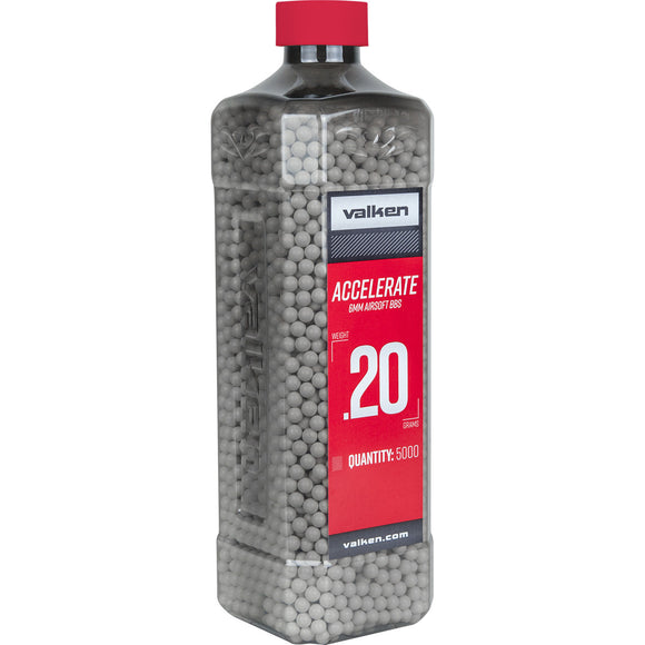 Valken Accelerate 0.20g 5000ct 6mm Airsoft BBs - Stryker Airsoft