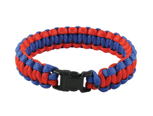 "Rothco Two-Tone Paracord Bracelet - 10"" (Red/Blue)"