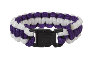 "Rothco Two-Tone Paracord Bracelet - 10"" (Purple/White)"