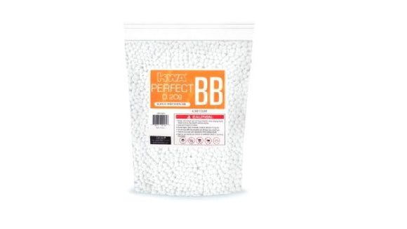 KWA Perfect 0.20g 4000ct BBs (White) - Stryker Airsoft