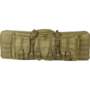 "Valken Tactical 36"" Double Rifle Tactical Gun Case (Tan) - Stryker Airsoft"