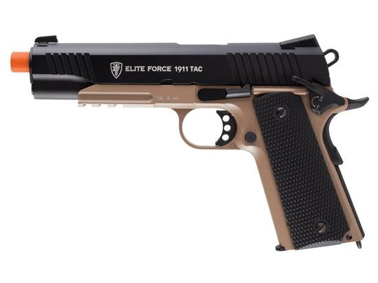 Elite Force 1911 A1 TAC CO2 Blowback Pistol Airsoft Gun (Black/DEB)