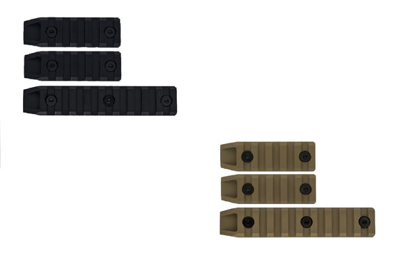 Echo1 3pc Metal Airsoft Keymod Rail Slot Set - Stryker Airsoft