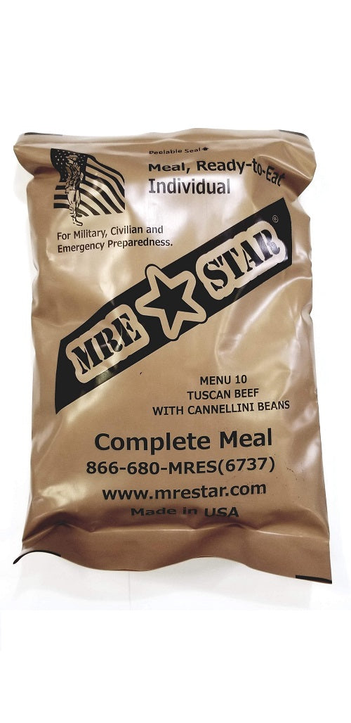 MRE STAR Tuscan Beef with Cannellini Beans MRE w/ Heater - Stryker Airsoft