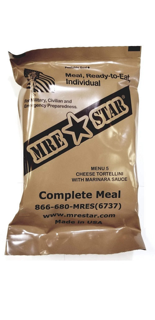 MRE STAR Cheese Tortellini with Marinara Sauce MRE w/ Heater - Stryker Airsoft