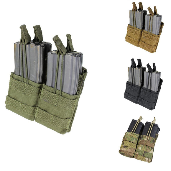 Condor Outdoor Double Open Top Stacker M4/M16 Magazine Pouch - Stryker Airsoft