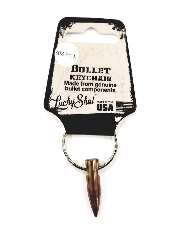 Lucky Shot .308 Projectile Bullet Keychain - Stryker Airsoft