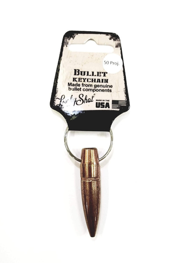 Lucky Shot 50 Cal. BMG Projectile Bullet Keychain - Stryker Airsoft