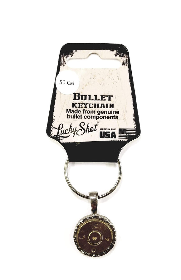 Lucky Shot 50 Cal BMG Slice Bullet Keychain - Stryker Airsoft