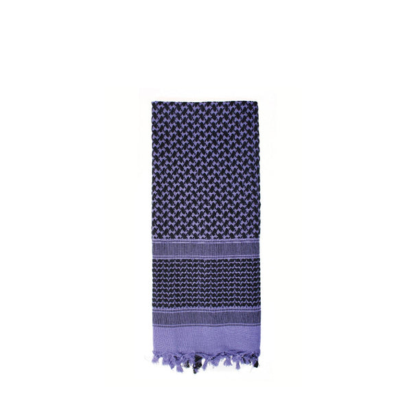 Rothco Shemagh Tactical Desert Scarf (Purple/Black) - Stryker Airsoft