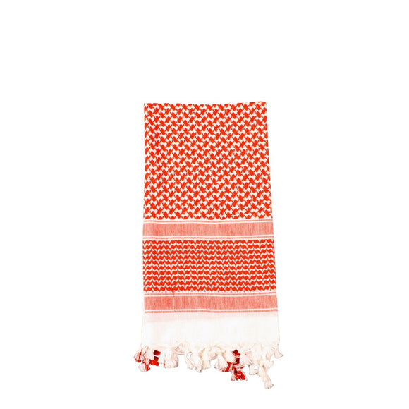 Rothco Shemagh Tactical Desert Scarf (White/Red) - Stryker Airsoft