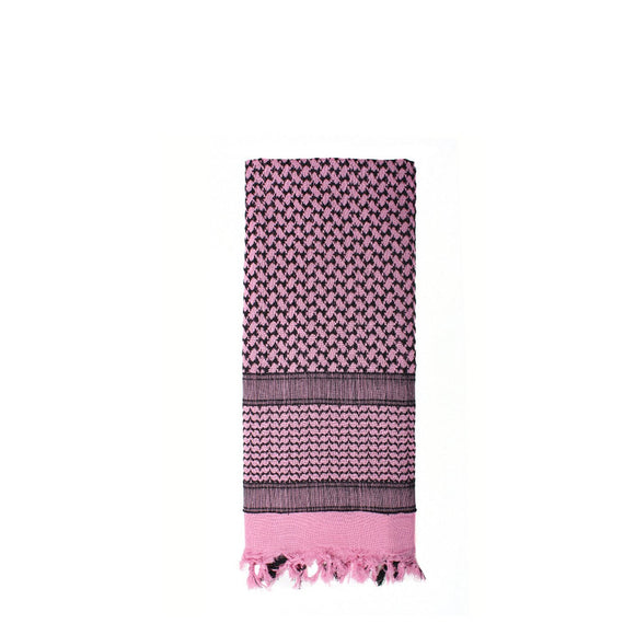 Rothco Shemagh Tactical Desert Scarf (Pink/Black) - Stryker Airsoft