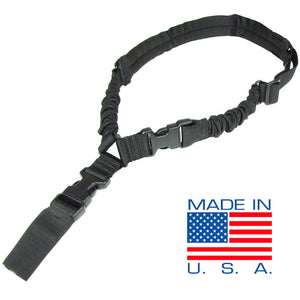 Condor Outdoor Padded Cobra Bungee Sling (Black) - Stryker Airsoft