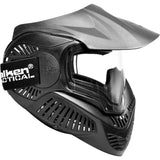 Valken MI-7 Dual Pane Thermal Lens Paintball Full Face Mask (Black) - Stryker Airsoft