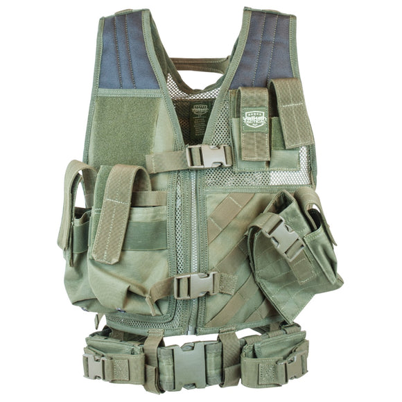 Valken Tactical Youth Crossdraw Vest (Olive) - Stryker Airsoft