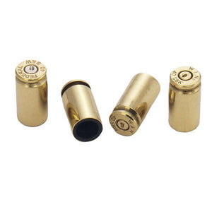 Lucky Shot 40 Caliber Bullet Valve Stem Caps (Brass) - Stryker Airsoft