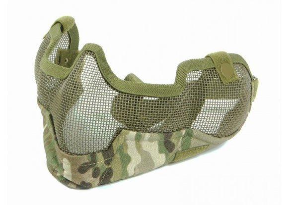 Bravo Airsoft Tactical Gear V2 Strike Metal Mesh Face Mask (Multicam)