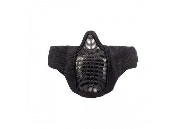 Bravo Airsoft Tactical Gear V3 Strike Metal Mesh Face Mask (Black) - Stryker Airsoft