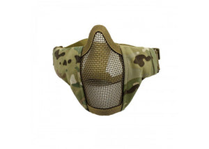 Bravo Airsoft Tactical Gear V3 Strike Metal Mesh Face Mask (Multicam)