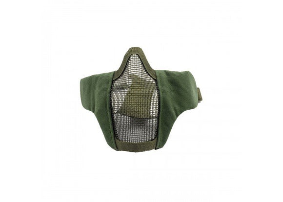 Bravo Airsoft Tactical Gear V3 Strike Metal Mesh Face Mask (OD)