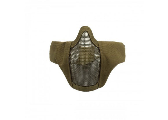Bravo Airsoft Tactical Gear V3 Strike Metal Mesh Face Mask (Tan) - Stryker Airsoft