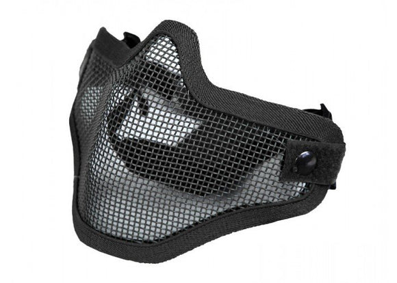 Bravo Airsoft Tactical Gear V1 Strike Steel Half Face Mask (Black) - Stryker Airsoft