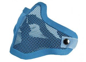 Bravo Airsoft Tactical Gear V1 Strike Steel Half Face Mask (Blue) - Stryker Airsoft