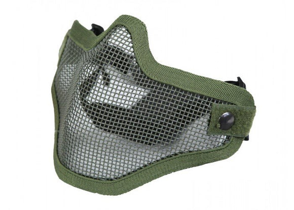 Bravo Airsoft Tactical Gear V1 Strike Steel Half Face Mask (OD) - Stryker Airsoft