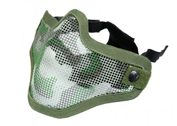 Bravo Airsoft Tactical Gear V1 Strike Steel Half Face Mask (Woodland)