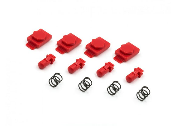 Dytac Hexmag Airsoft HexID Latchplates & Followers (Lava Red) - Stryker Airsoft