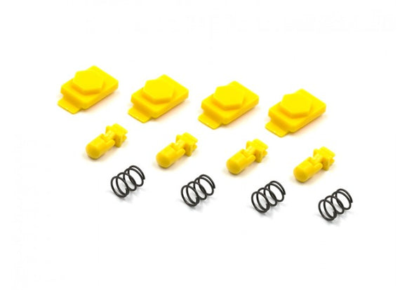 Dytac Hexmag Airsoft HexID Latchplates & Followers (Hazard Yellow) - Stryker Airsoft