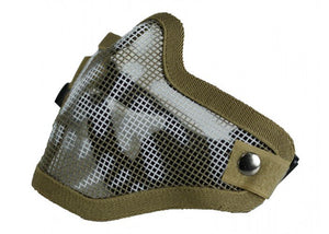 Bravo Airsoft Tactical Gear V1 Strike Steel Half Face Mask (Tan Skull) - Stryker Airsoft