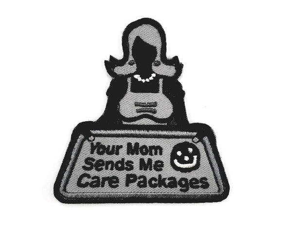 Mil-Spec Monkey Your Mom Sends Me Care Packages Patch (SWAT) - Stryker Airsoft
