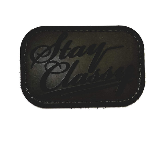 Mil-Spec Monkey Stay Classy PVC Patch (Forest) - Stryker Airsoft