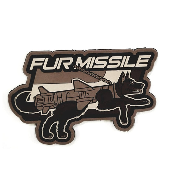 Mil-Spec Monkey Fur Missile PVC Patch (Urban) - Stryker Airsoft