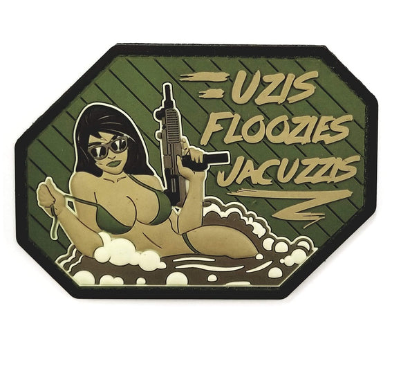 Mil-Spec Monkey Uzis Floozies Jacuzzis PVC Patch (Multicam) - Stryker Airsoft