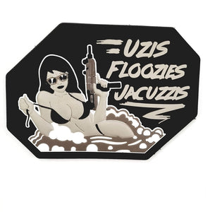 Mil-Spec Monkey Uzis Floozies Jacuzzis PVC Patch (Urban) - Stryker Airsoft