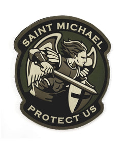 Mil-Spec Monkey Saint Michael Modern PVC Patch (Multicam) - Stryker Airsoft