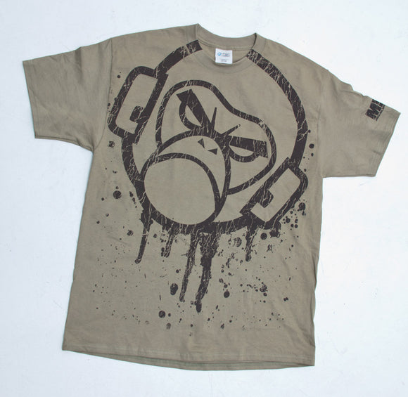 Mil-Spec Monkey Splatter T-Shirt - Small (Dusty Brown) - Stryker Airsoft