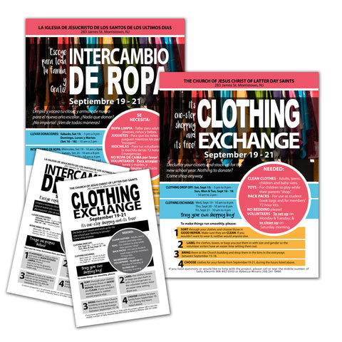 LDS Clothing exchange  flyer