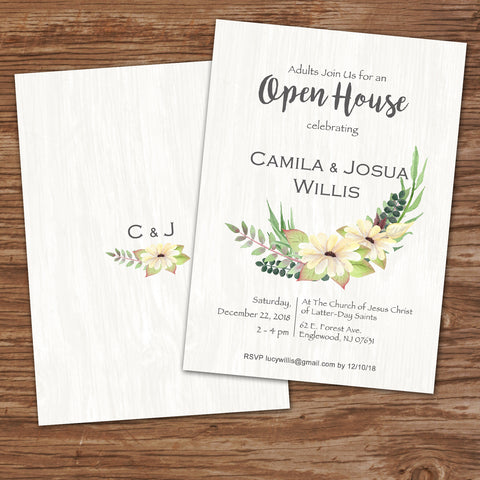 Open House wedding invitation design