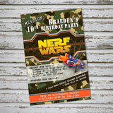 Nerf Guns War Invite