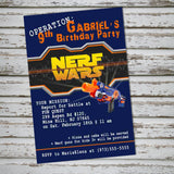 Nerf Wars Party theme