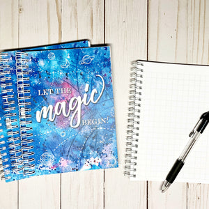 MAGIC NOTEBOOK Journal - Graph paper - Let the Magic Begin! - 5 x 7 inches